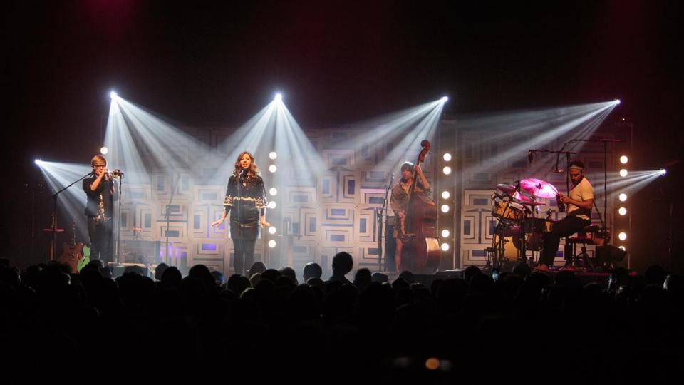 Lake Street Dive — (from left) Mike Olson, Rachael Price, Bridget Kearney, and Mike Calabrese — performing at the House of Blues.