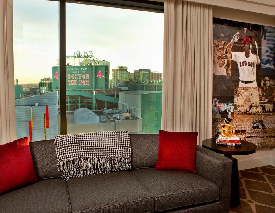 A new wing of the Hotel Commonwealth overlooks Fenway Park.