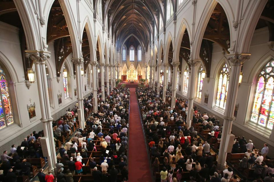 Cardinal Sean P. O'Malley celebrated Easter Sunday Mass at the Cathedral of the Holy Cross.