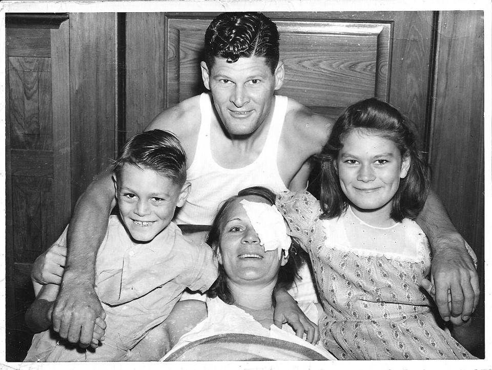 The Downs family reunited in a Louisiana hospital, in a photo that ran on the front page of New Orleans's daily newspaper.