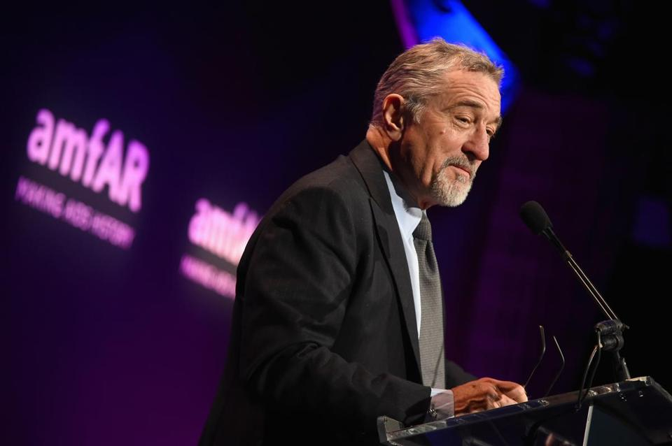 NEW YORK, NY - FEBRUARY 10: Actor Robert De Niro speaks onstage during the 2016 amfAR New York Gala at Cipriani Wall Street on February 10, 2016 in New York City. (Photo by Jamie McCarthy/Getty Images)