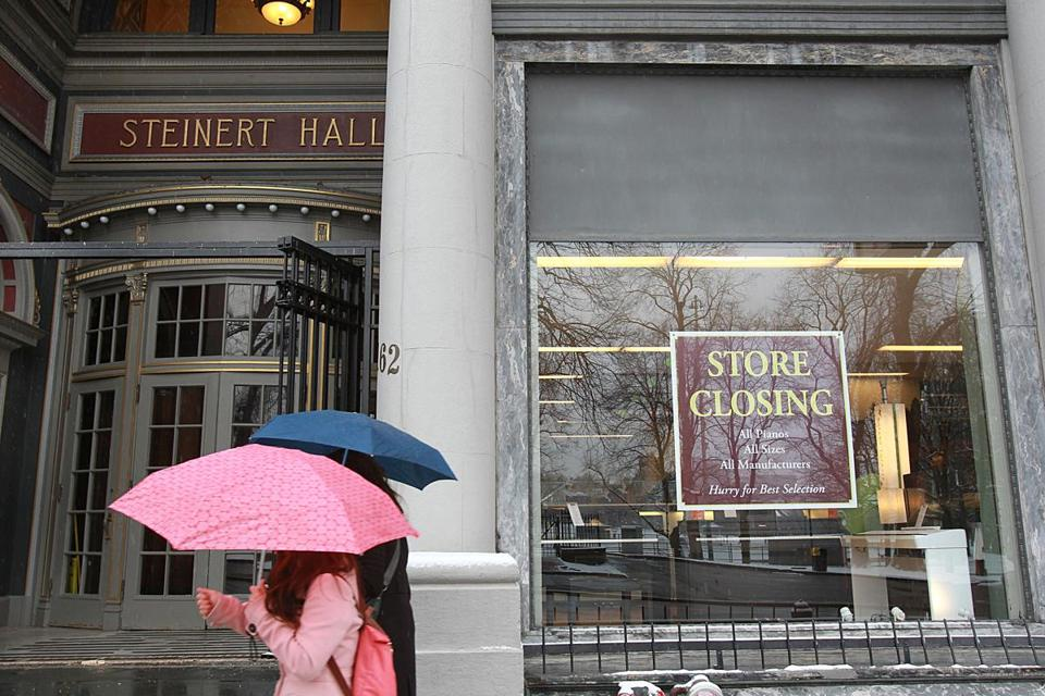 The Steinert store on Boylston Street was the last holdout on a stretch once known as Piano Row.