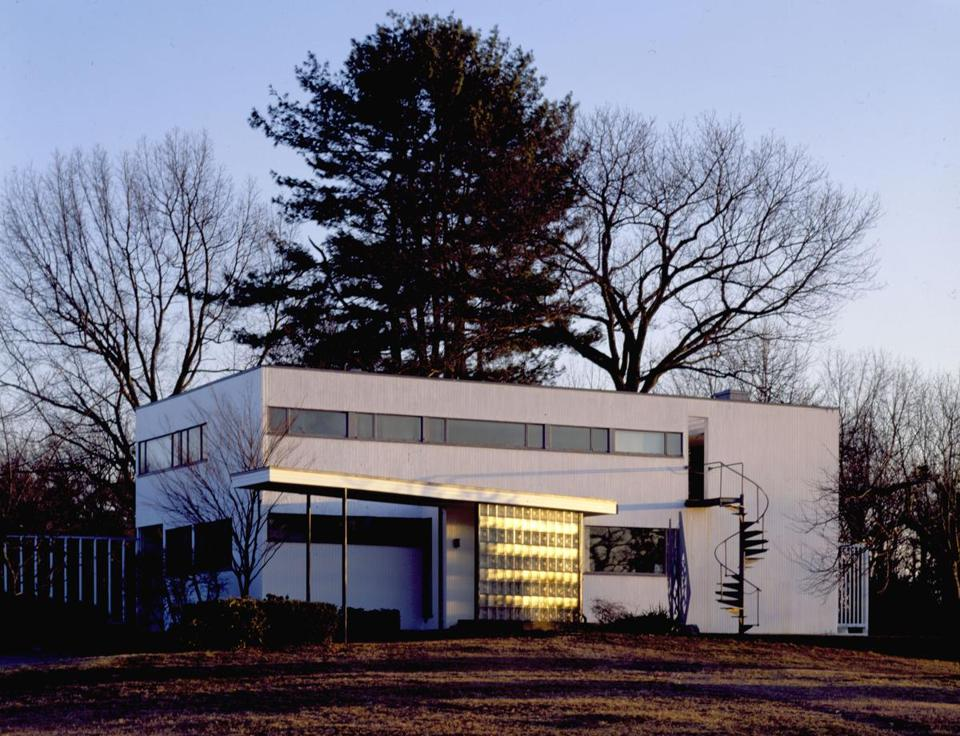 Exterior of Historic New England's Gropius House in Lincoln, MA