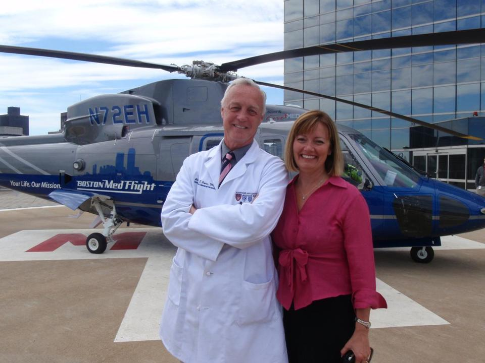 Dr. Suzanne Wedel followed her husband, Dr. Alasdair Conn, as chief executive of Boston MedFlight. She is credited with expanding the scope of the air ambulance service.