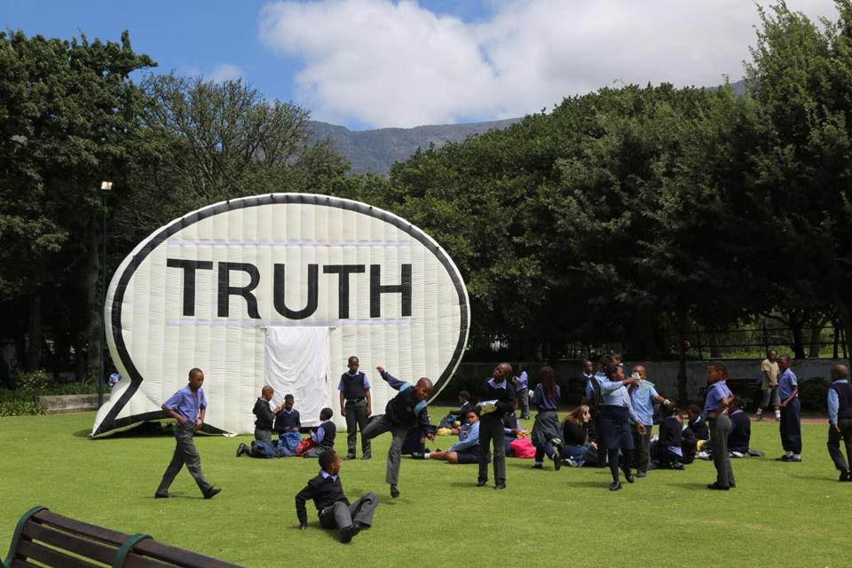 The Truth Booth in Cape Town, South Africa in 2014.