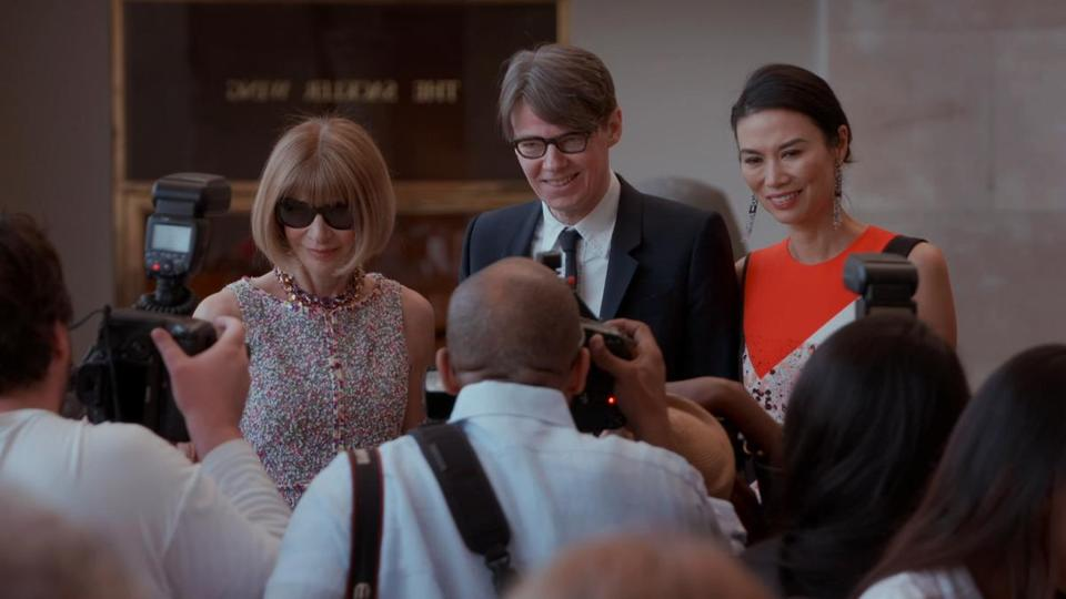 "Anna Wintour and Andrew Bolton in director Andrew Rossi's ""The First Monday in May."""