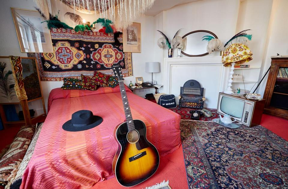 The London flat that Jimi Hendrix lived in has been restored to what it looked like in 1968, including the acoustic guitar Hendrix played at the time.