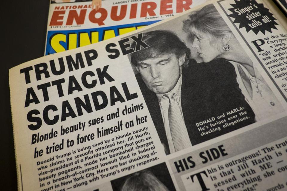 A story about the lawsuit against Donald Trump ran in the National Inquirer on October 1, 1996.