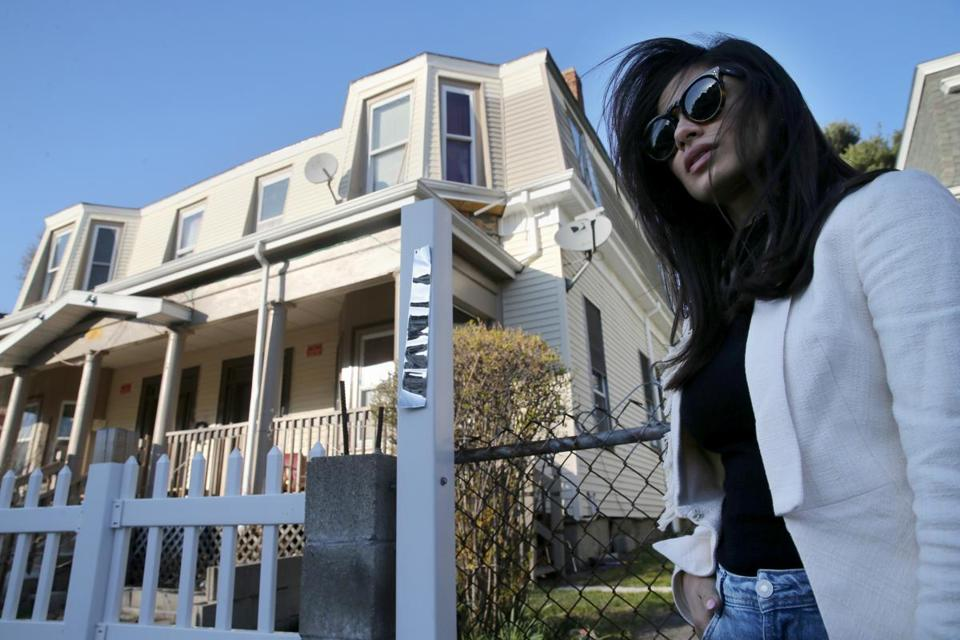 Boston native Diane Guerrero stood outside the home in Jamaica Plain where she lived when her parents were deported.