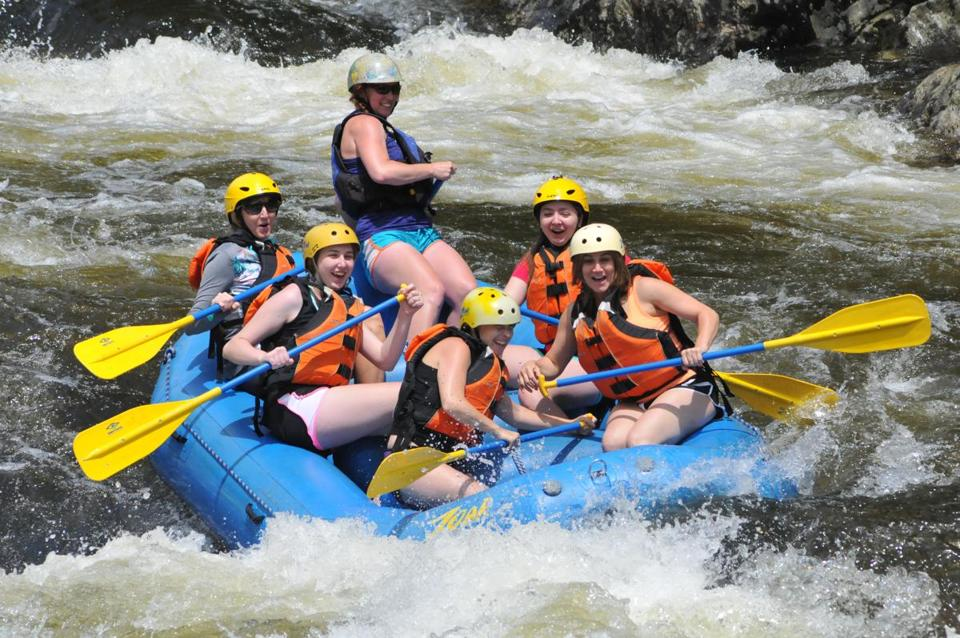 A rafting trip on the Deerfield River.