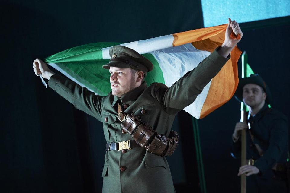 "American Repertory Theater will present a production of ""The Plough and the Stars"" by Dublin's Abbey Theatre. Pictured: Lloyd Cooney (front) and Liam Heslin."