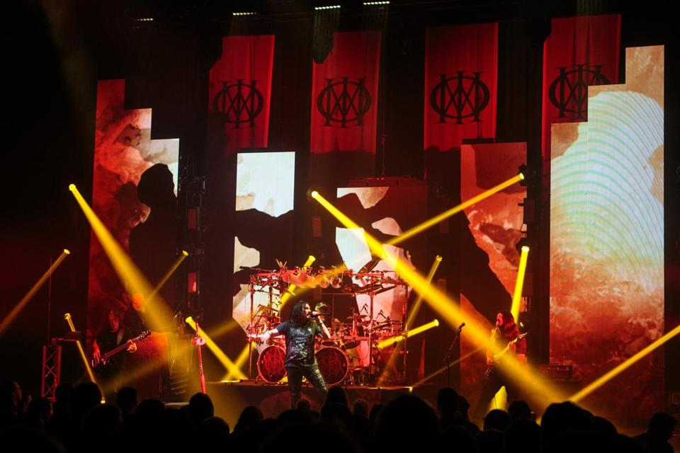Dream Theater performing at the Orpheum Theatre on Tuesday night.