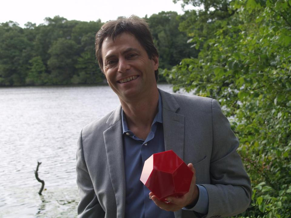 12tickettv PBSÕ NOVA ÒThe Great Math MysteryÓ. Professor Max Tegmark with his favourite Platonic Solid - the dodecahedron. Credit: Courtesy of courtesy of WGBH.