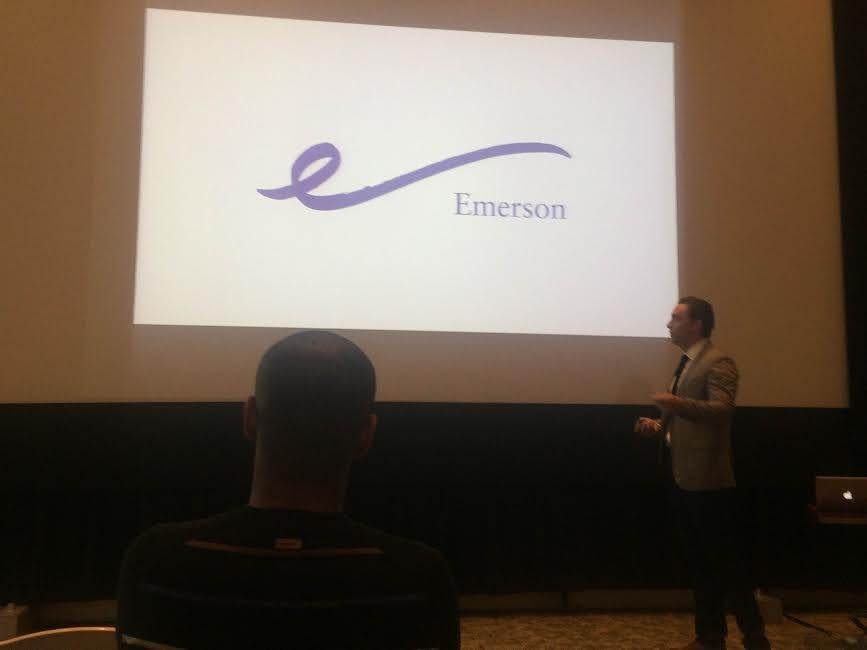 A snapshot of Emerson's new proposed logo.