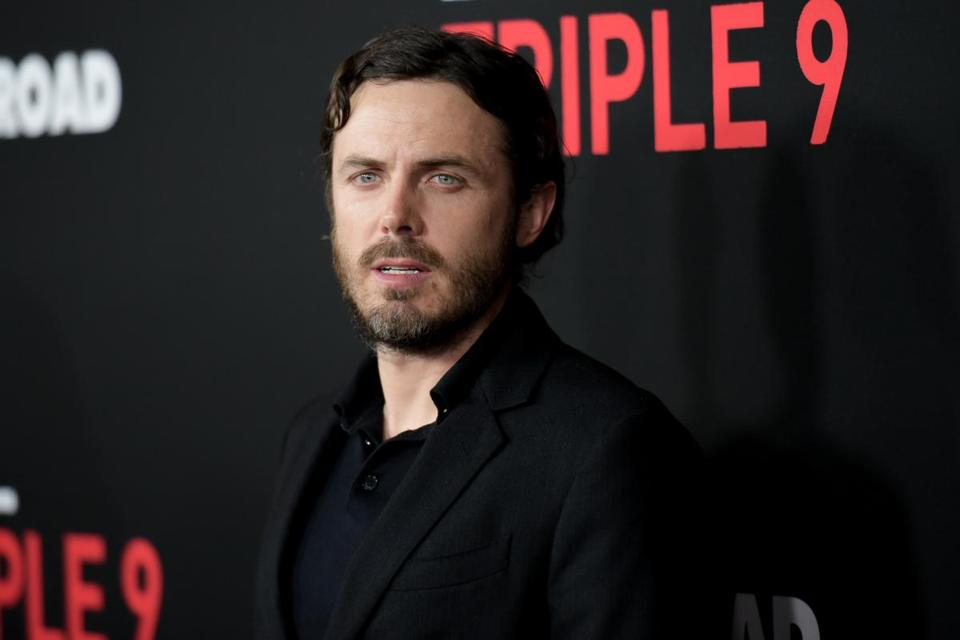 "Actor Casey Affleck at the Los Angeles premiere of ""Triple 9"" at the Regal Theater LA Live on Feb. 16."