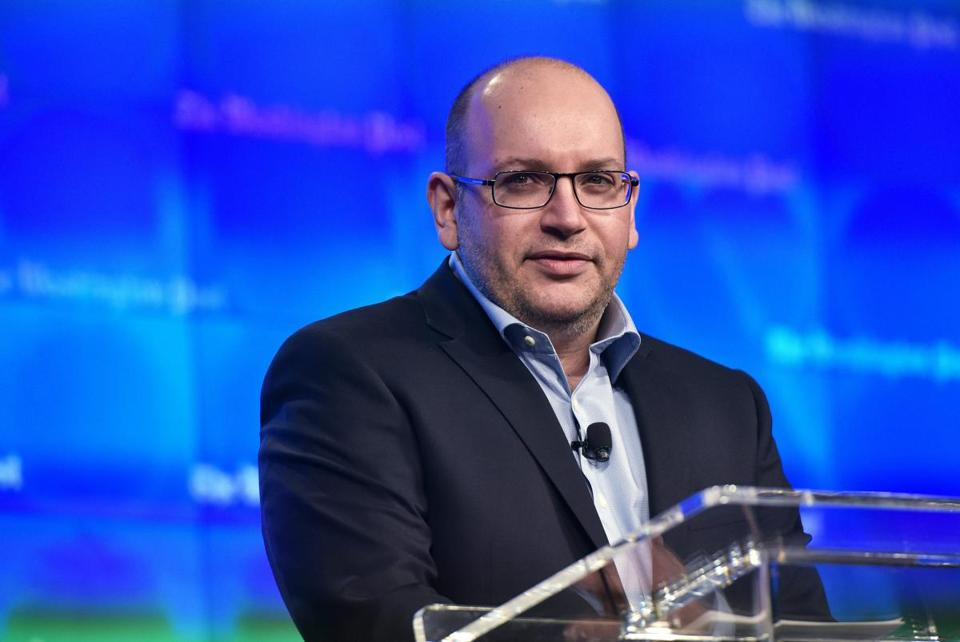 Freed Washington Post Tehran bureau chief Jason Rezaian speaks during the inauguration of the Washington Post Headquarters on January 28, 2016 in Washington, DC. Rezaian was released from Iran after 18 months behind bars on spying charges. / AFP / Mandel NganMANDEL NGAN/AFP/Getty Images
