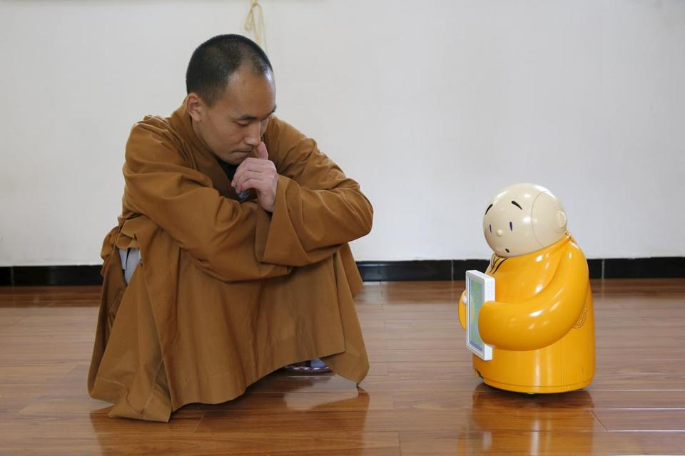 "Image result for ""Worthy Stupid Robot Monk."""