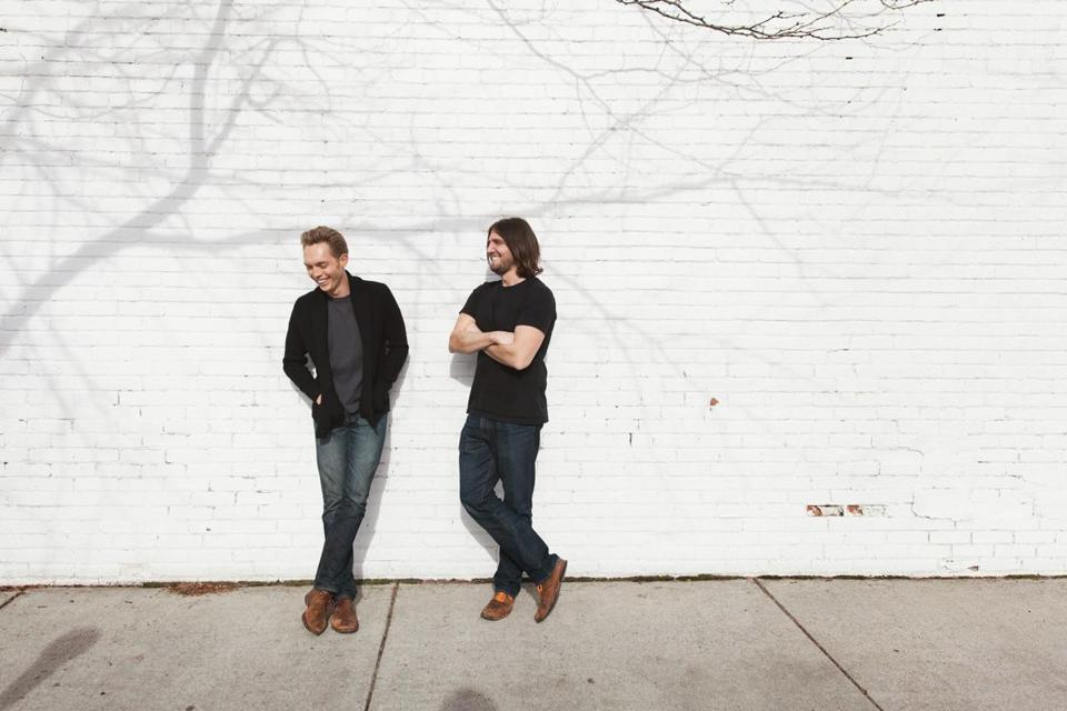 Joshua Fields Millburn (left) and Ryan Nicodemus founded the multimedia project the Minimalists.