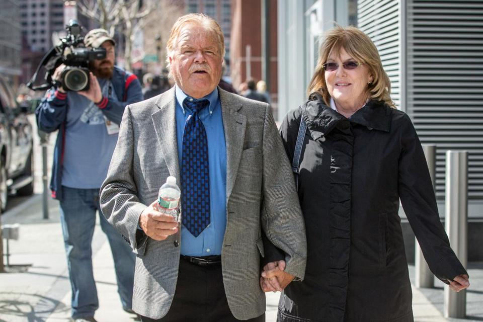Robert Fitzpatrick and his wife Jane left the federal courthouse in South Boston in 2015.