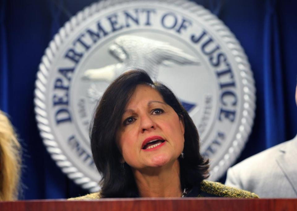 US Attorney Carmen M. Ortiz was appointed by President Obama and confirmed to her post in 2009.