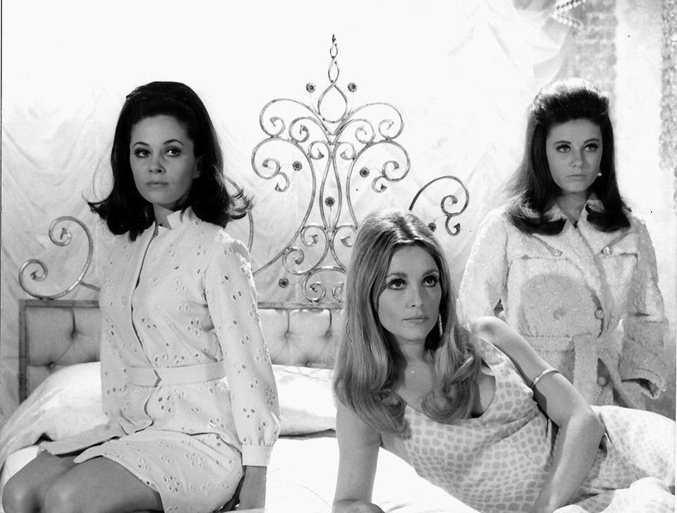 "From left: BARBARA PARKINS, SHARON TATE, and PATTY DUKE in ""Valley of the Dolls."""