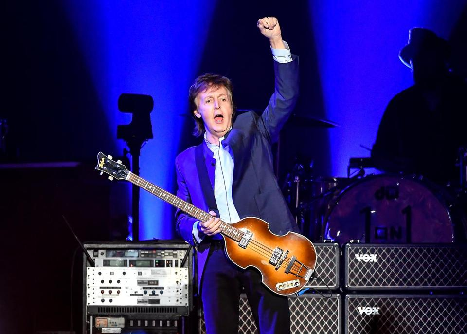 Paul McCartney Pictured Last Month At A Performance In Fresno Calif