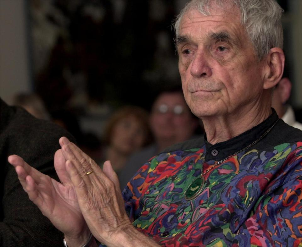 Father Daniel Berrigan at the Bunting Institute in Cambridge in 2000, where he and his brother Philip received an award.