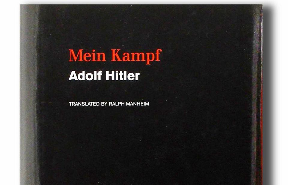 "Adolf Hitler's ""Mein Kampf"" is published by Boston-based Houghton Mifflin Harcourt."