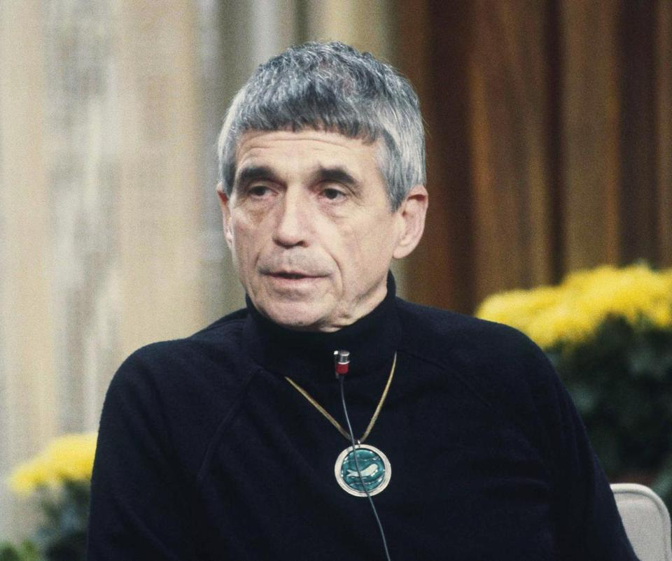 "File-This Feb. 16, 1981, file photo shows Daniel Berrigan, ex-priest, now political activist on NBC-TV's ""Today"" show in New York. The Roman Catholic priest and Vietnam war protester, Berrigan has died. He was 94. Michael Benigno, a spokesman for the Jesuits USA Northeast Province, says Berrigan died Saturday, April 30, 2016, at a Jesuit infirmary at Fordham University. (AP Photo/Dave Pickoff, File)"