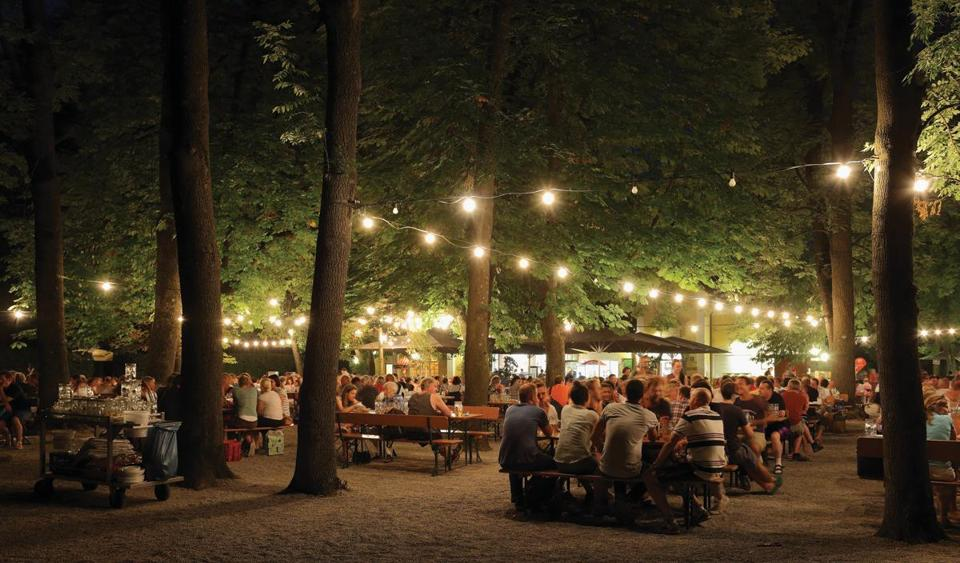 A traditional Munich biergarten.