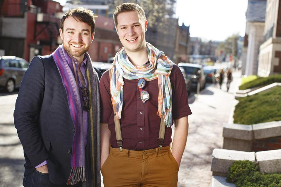 "Charles Osborne (left) and Leo Hurley are the creators of ""The Body Politic,'' a new opera about a transgender man from Afghanistan who moves to Chapel Hill, N.C."