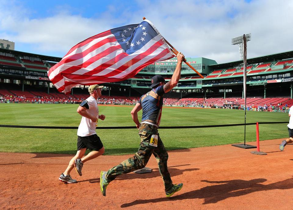 The annual Run to Home Base benefits the veterans support program run by Massachusetts General Hospital and the Red Sox.