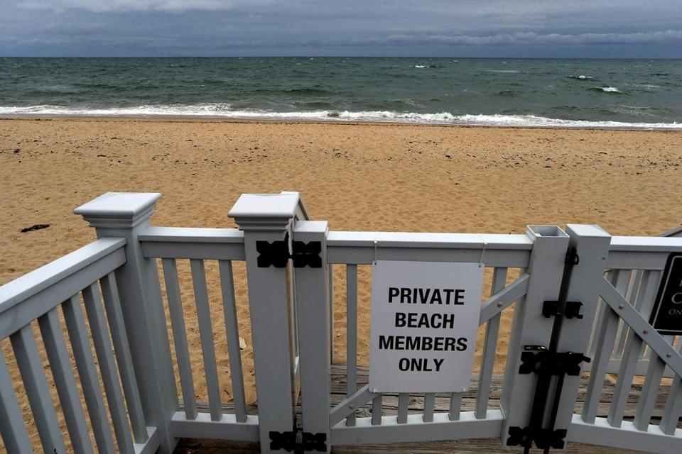 A Private Beach For Members Next To The Popponesset Inn At New Seabury