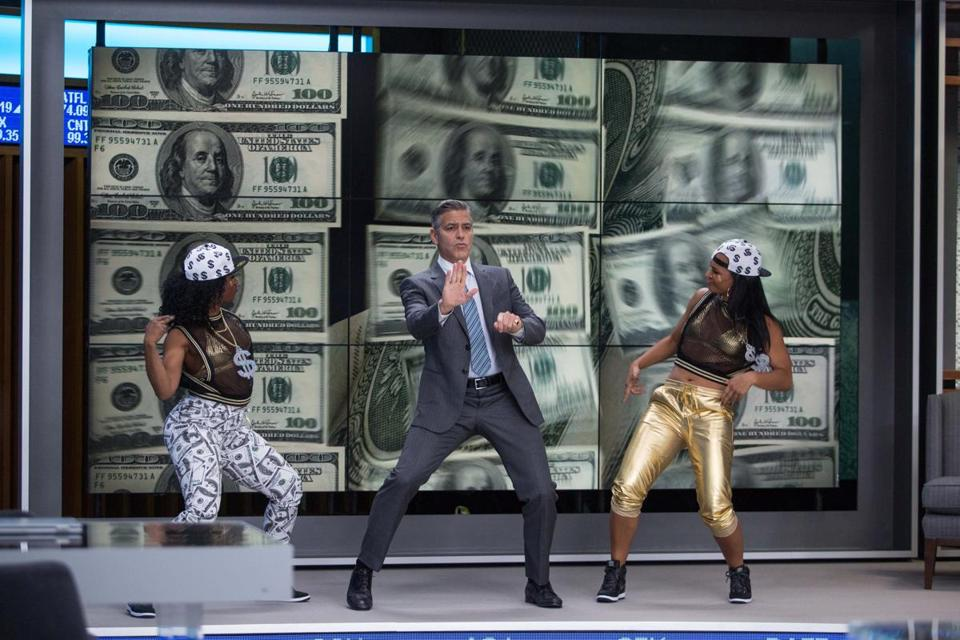 "George Clooney stars in ""Money Monster"" as the host of a show on a financial cable news network."