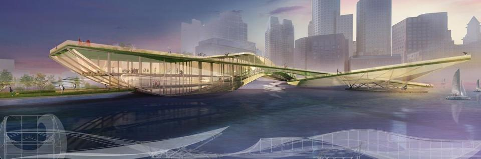 07northern- Infinate Green Loop- Northern Ave. Bridge design competition. (Boston Redevelopment Authority)