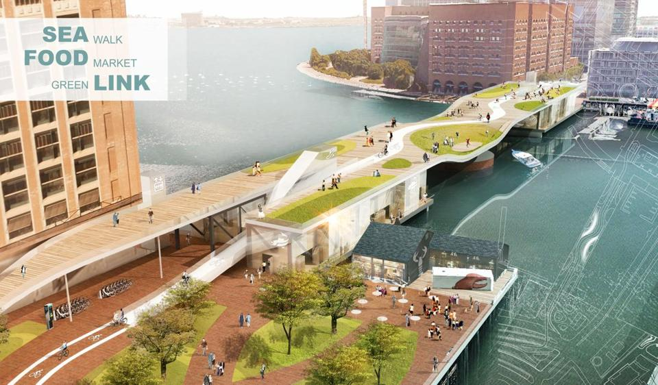 07northern- Sea Food Link- Northern Ave. Bridge design competition. (Boston Redevelopment Authority)