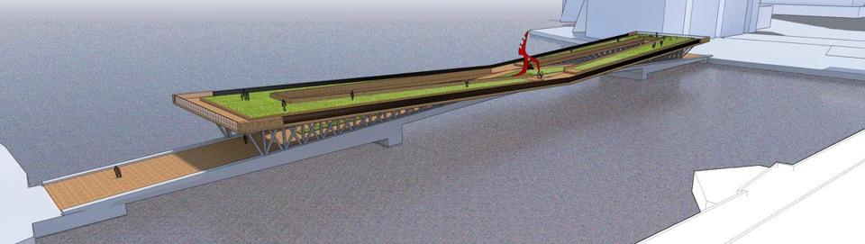 07northern- Wooden Hammock- Northern Ave. Bridge design competition. (Boston Redevelopment Authority)