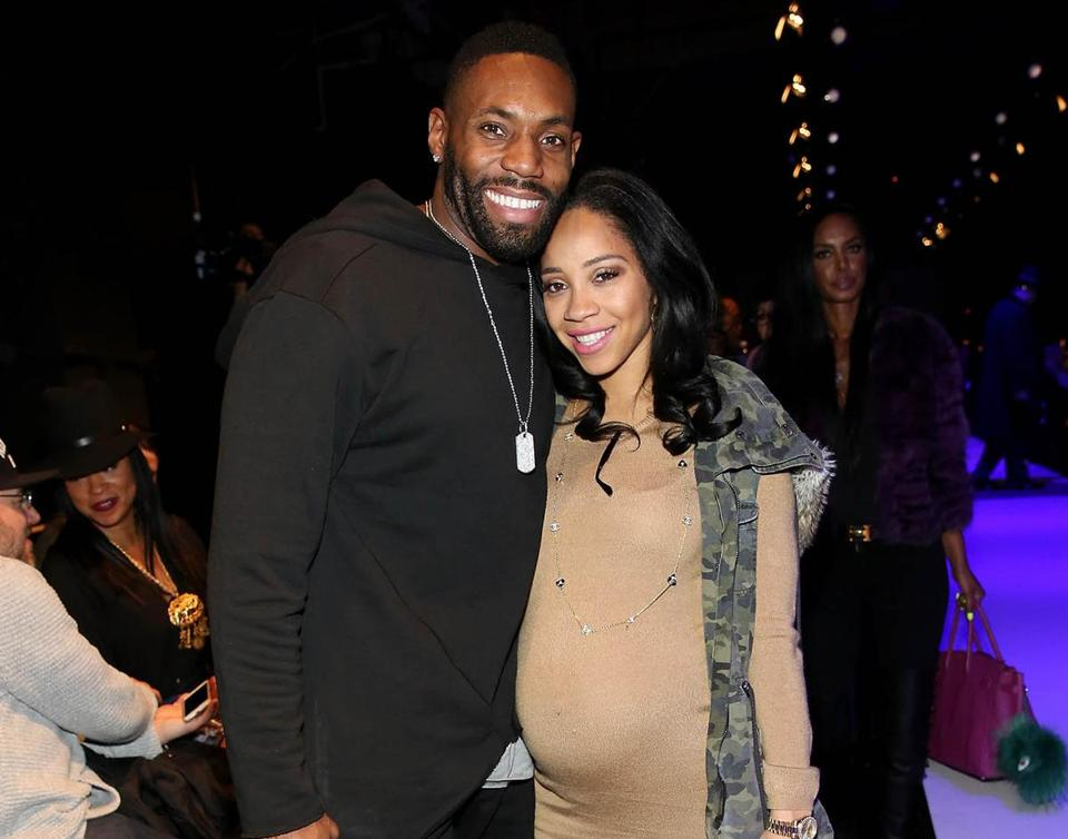 Antonio Cromartie (left), currently a free agent in the NFL, and his wife, Terricka Cason, attended the Rookie USA Presents Kids Rock! Fall 2016 fashion show in New York in February.