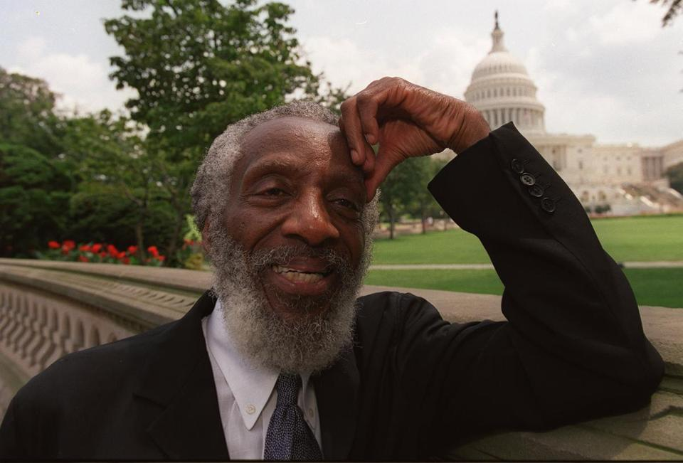 Dick Gregory, seen in Washington in 2000, has devoted much of his life to activism.
