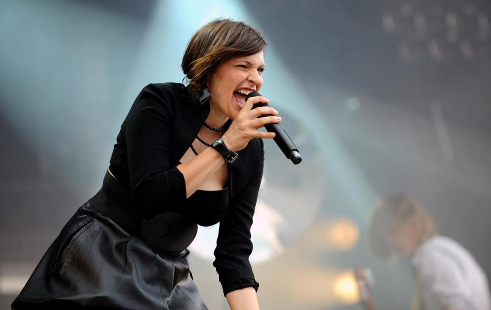 Zoe Colotis of Caravan Palace, which plays the House of Blues on May 22.