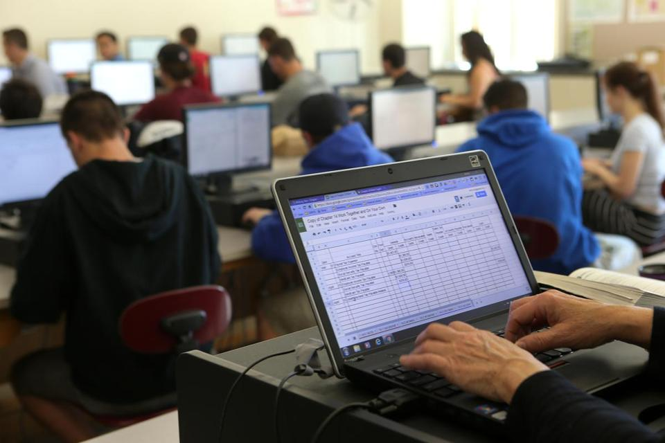 Modern Technology In Classroom ~ Paperless education the boston globe