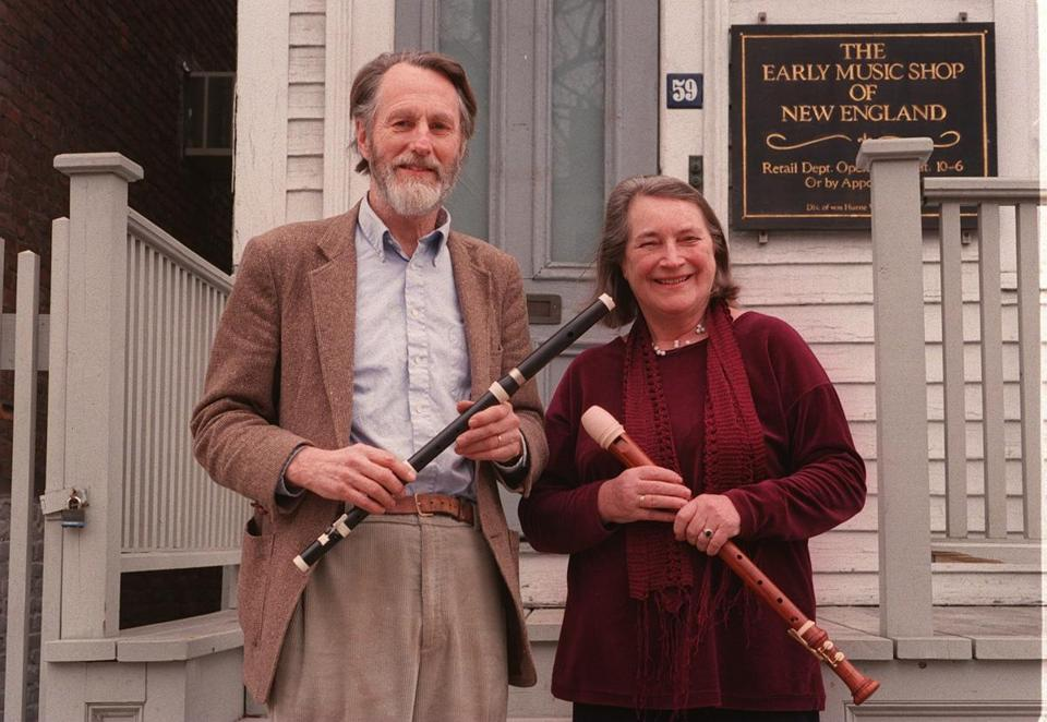 Friedrich and Ingeborg von Huene owned the Early Music Shop of New England on Boylston Street in Brookline.