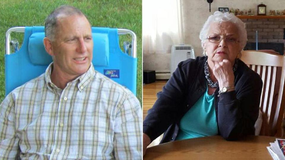 George Heath (left) and Patricia Slavin (right) were killed in the Taunton attacks.