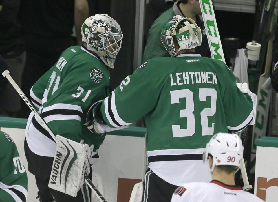 Kari Lehtonen and Antti Niemi are under contract for two more seasons at a combined annual cap hit of $10.4 million.