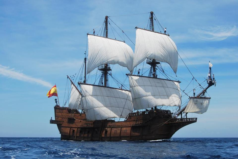 The tall ship El Galeon will sail into Newburyport on May 25.