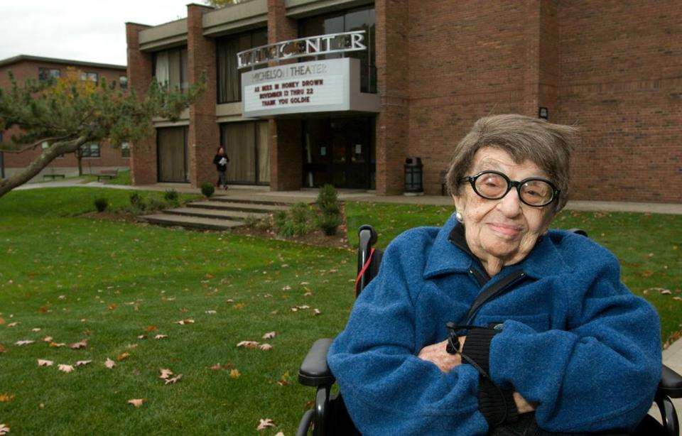 In 2008, Goldie Michelson was shown in front of the theater that bears her name.