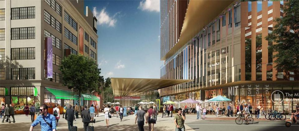 A rendering of the proposed Kendall Square project.