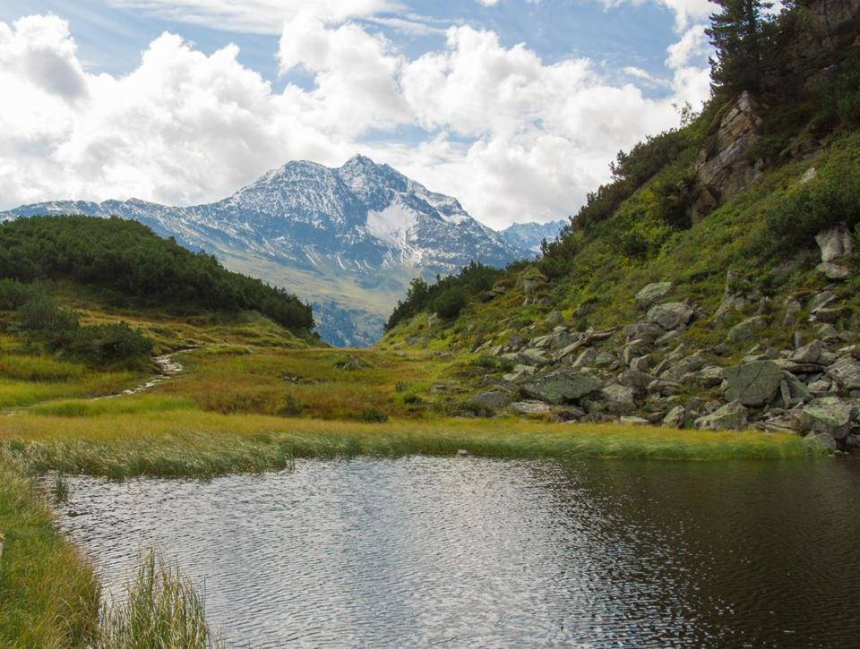Hiking through the alpine landscape around St. Anton am Arlberg makes for some dramatic scenery.
