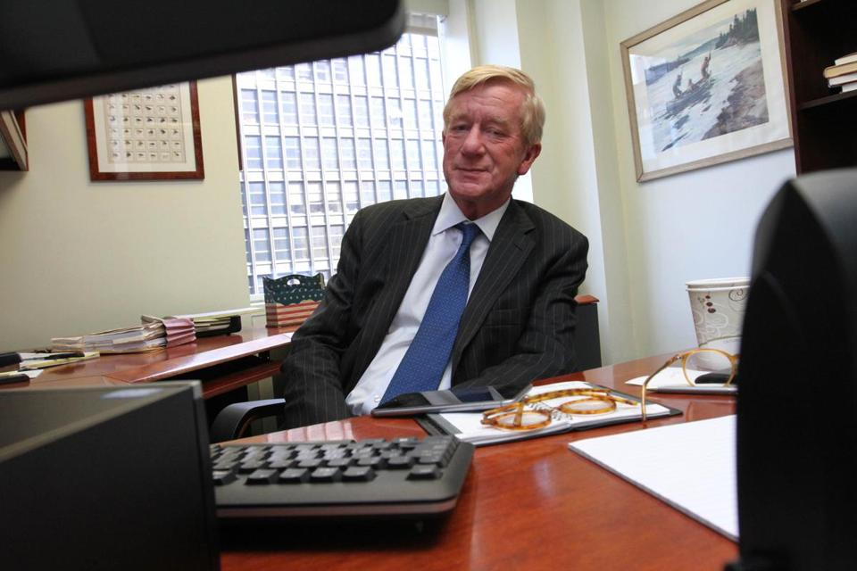 Former Governor of Massachusetts William F. Weld posed for a photo in his New York office.