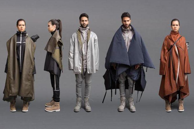 Angela Luna's collection includes jackets that have multiple uses for refugees; they can perform double-duty as tents, sleeping bags, and baby harnesses.